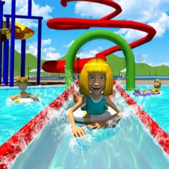 Sommersport Wasserparkrutsche