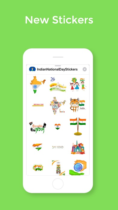 Screenshot for Indian National Days stickers in Viet Nam App Store