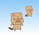 Naughty Beaver&Ali Stickers