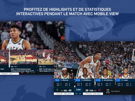 Screenshot #6 pour NBA Officiel : basket en live