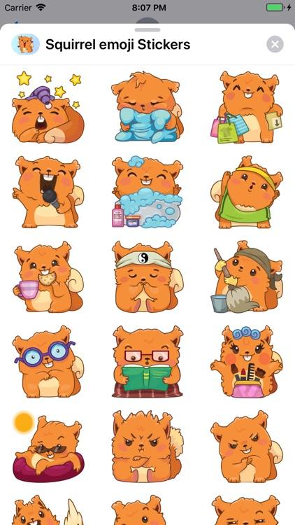 Squirrel emoji Stickers
