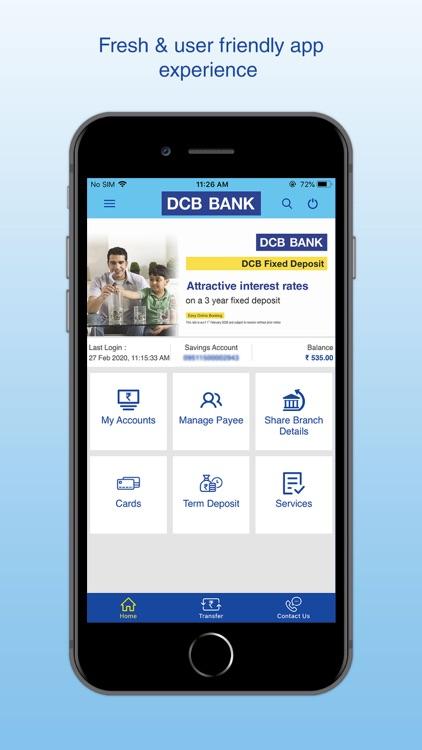 DCB Bank Mobile Banking screenshot-5