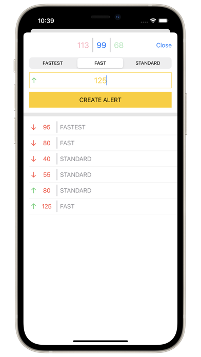 Screenshot of ETHGas Alerts App