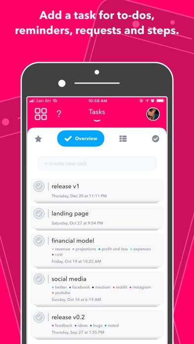 Nural - tasks, notes & chat ScreenShot2