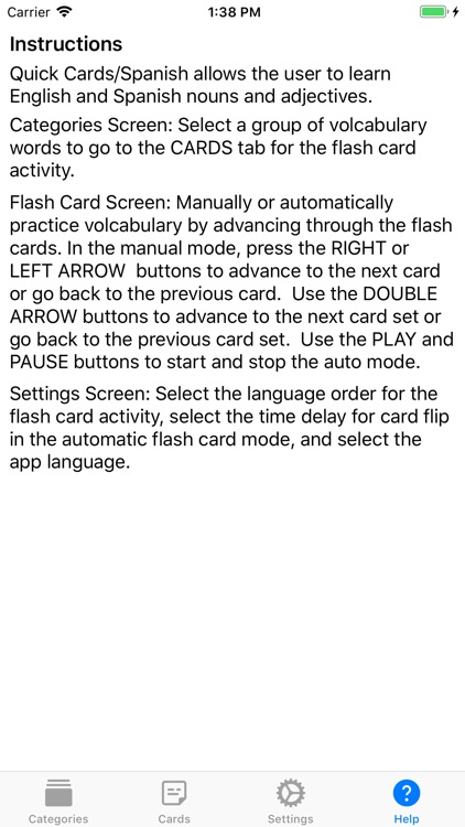 Quick Cards Spanish screenshot-4