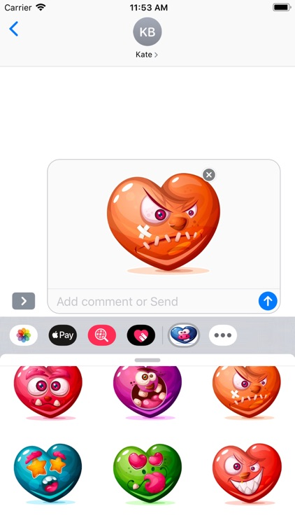 Dirty Hearts Stickers Pack screenshot-5