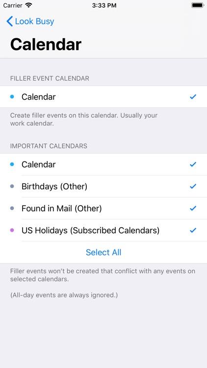 #LookBusy Fake Calendar Events