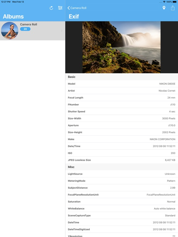Exif Data Viewer Screenshots