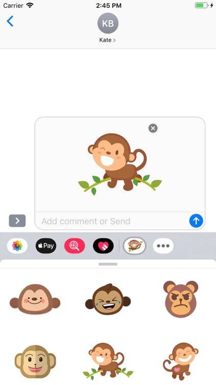 Cute Monkey Stickers Pack screenshot-3