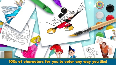Screenshot for Disney Coloring World in United States App Store