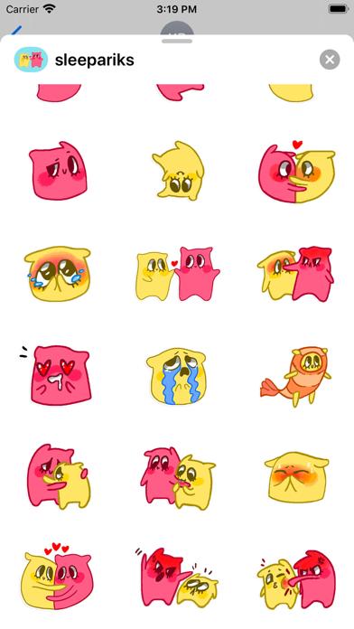 Pillow stickers for iMessage screenshot 2