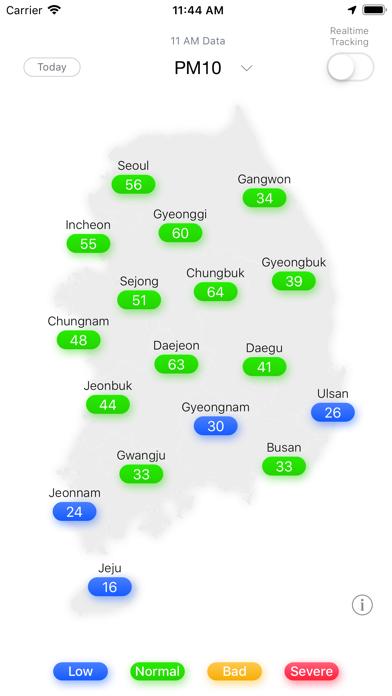 PM10 Tracker (미세먼지알림이)のおすすめ画像1