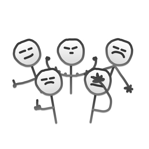 Hand Drawn Stick Men Stickers