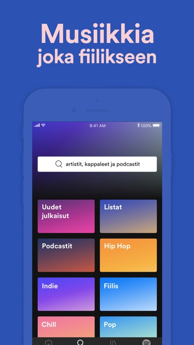 Screenshot for Spotify – musiikki + podcastit in Finland App Store