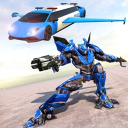Flying Limo Car Robot War