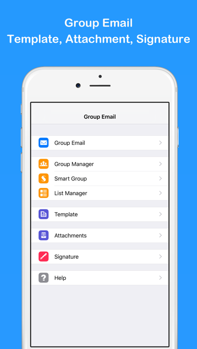 Group Email Pro屏幕截图1