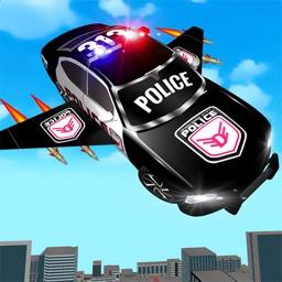 Flying Police Car Simulator-3D