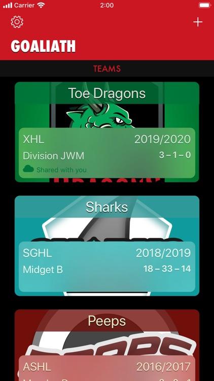 Goaliath Hockey Stats Tracker screenshot-0