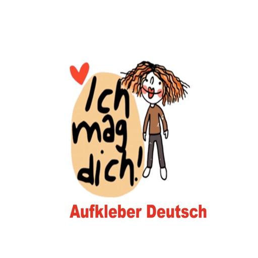 Aufkleber in Deutsch