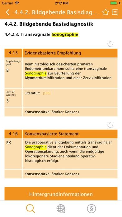 Screenshot for Leitlinienprogramm Onkologie in Germany App Store