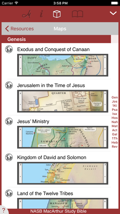 NASB MacArthur Study Bible Screenshot