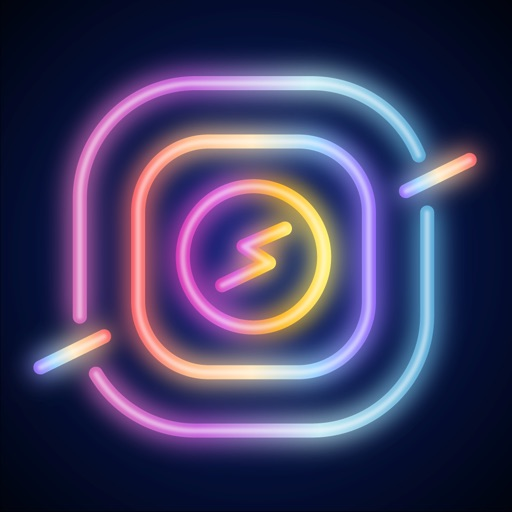 NEON GIF+TEXT Video Effects