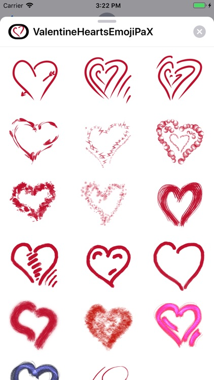 Valentine Hearts Emoji PaX screenshot-3