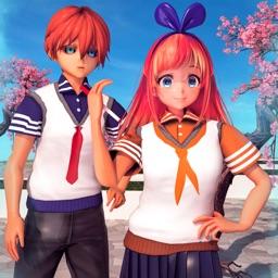 Anime School Girl Love Life 3D