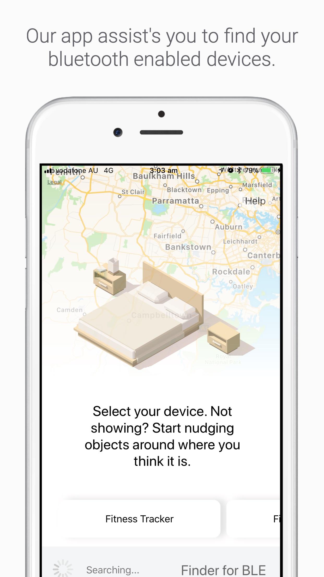 Screenshot do app Bluetooth Finder