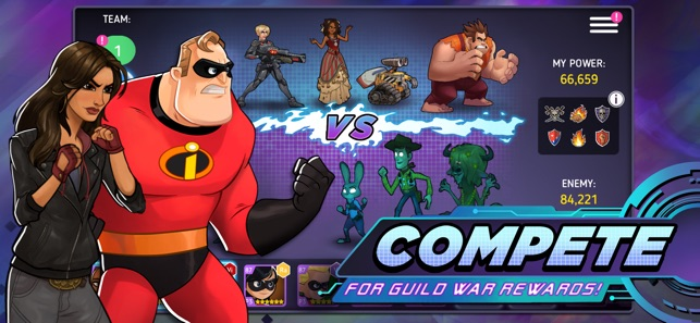 Five arcade games featuring characters from the Wreck-It Ralph movie