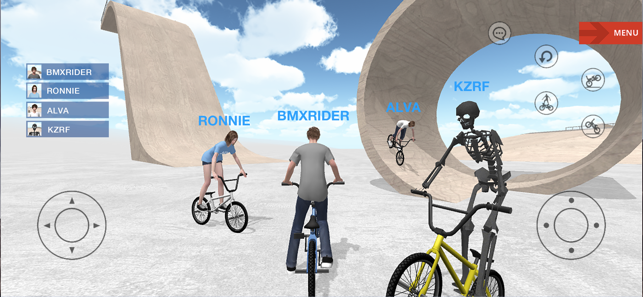 BMX Space, game for IOS