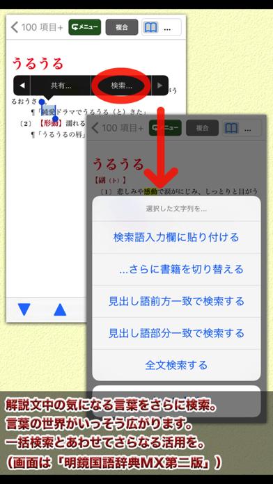 ジーニアス・明鏡・新漢語林MX【大修館書店】 ScreenShot5