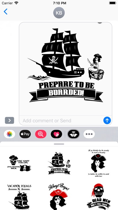 Screenshot for Stickers-Pirate in Viet Nam App Store