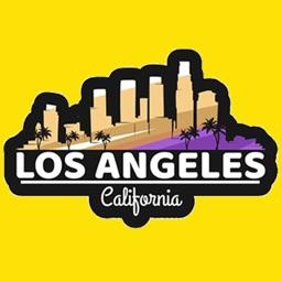 Los Angeles city USA stickers