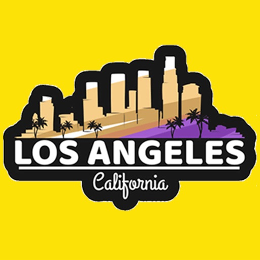 Los Angeles city USA stickers