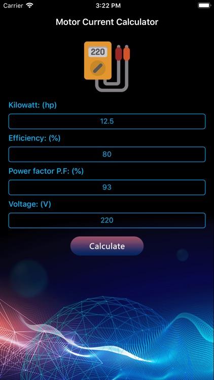 Power motor calculator