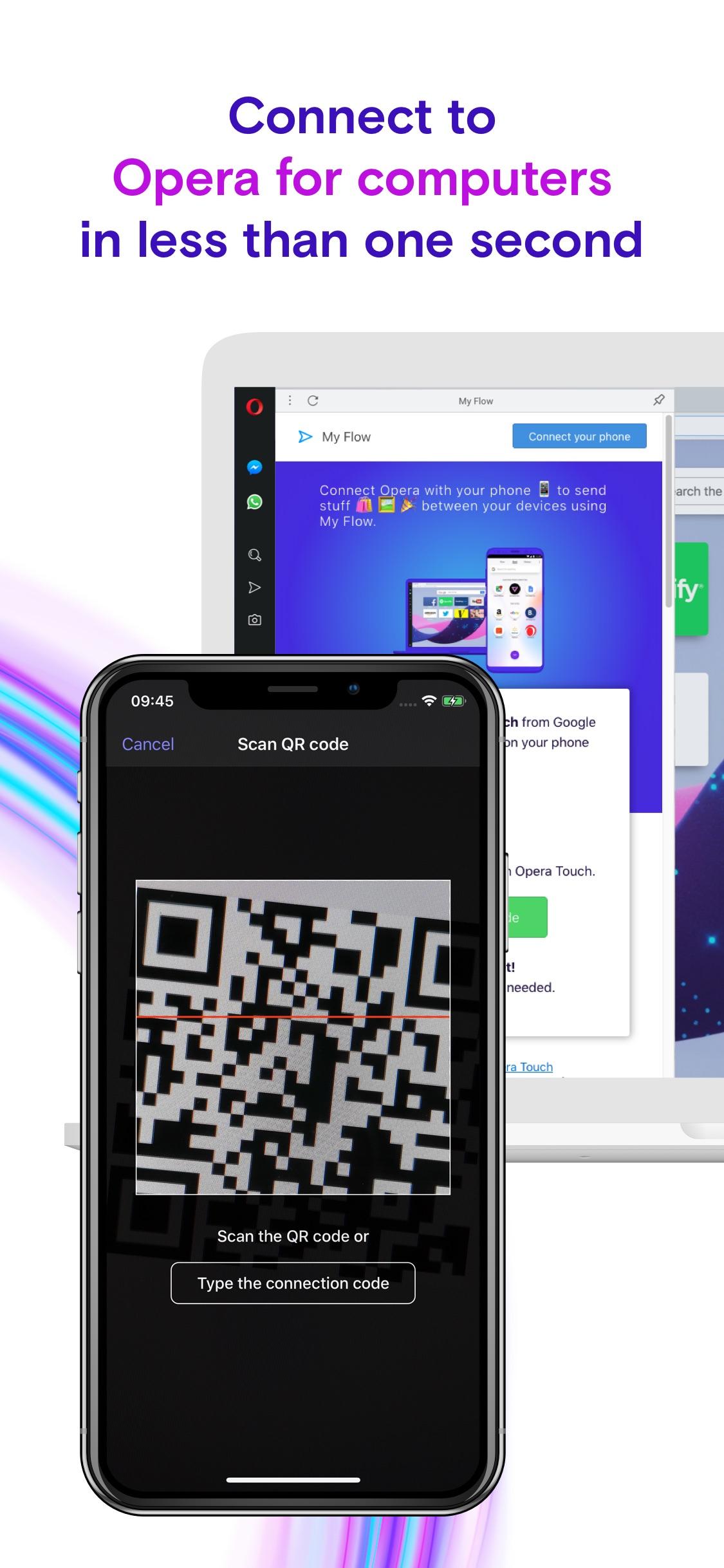 Screenshot do app Browser Opera Touch