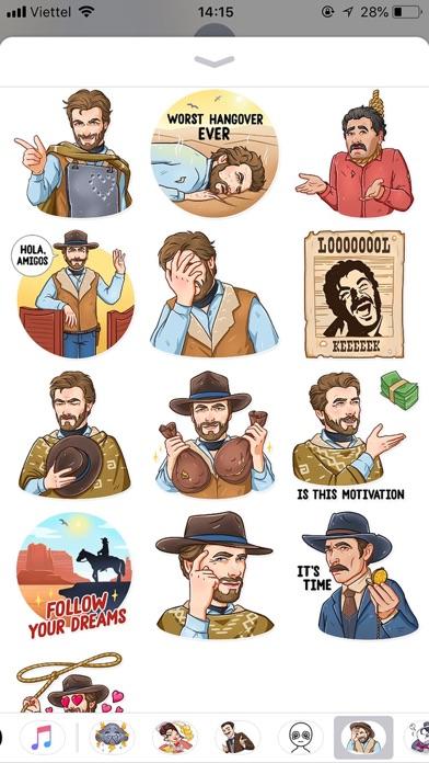 Cowboy Emoji Funny Stickers screenshot 2