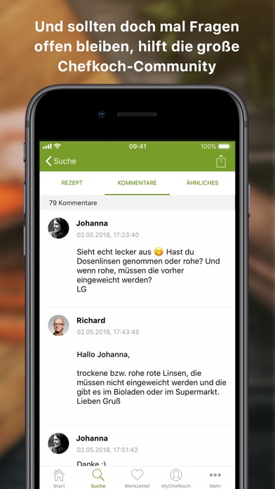 Screenshot for Chefkoch – Rezepte & Kochbuch in Germany App Store