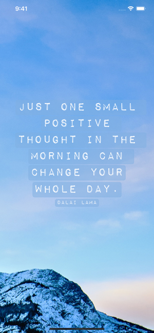 ‎Daily Quote - Positive quotes Screenshot