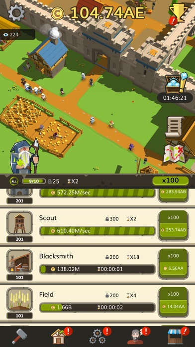 Idle Medieval Tycoon - Clicker Screenshot on iOS