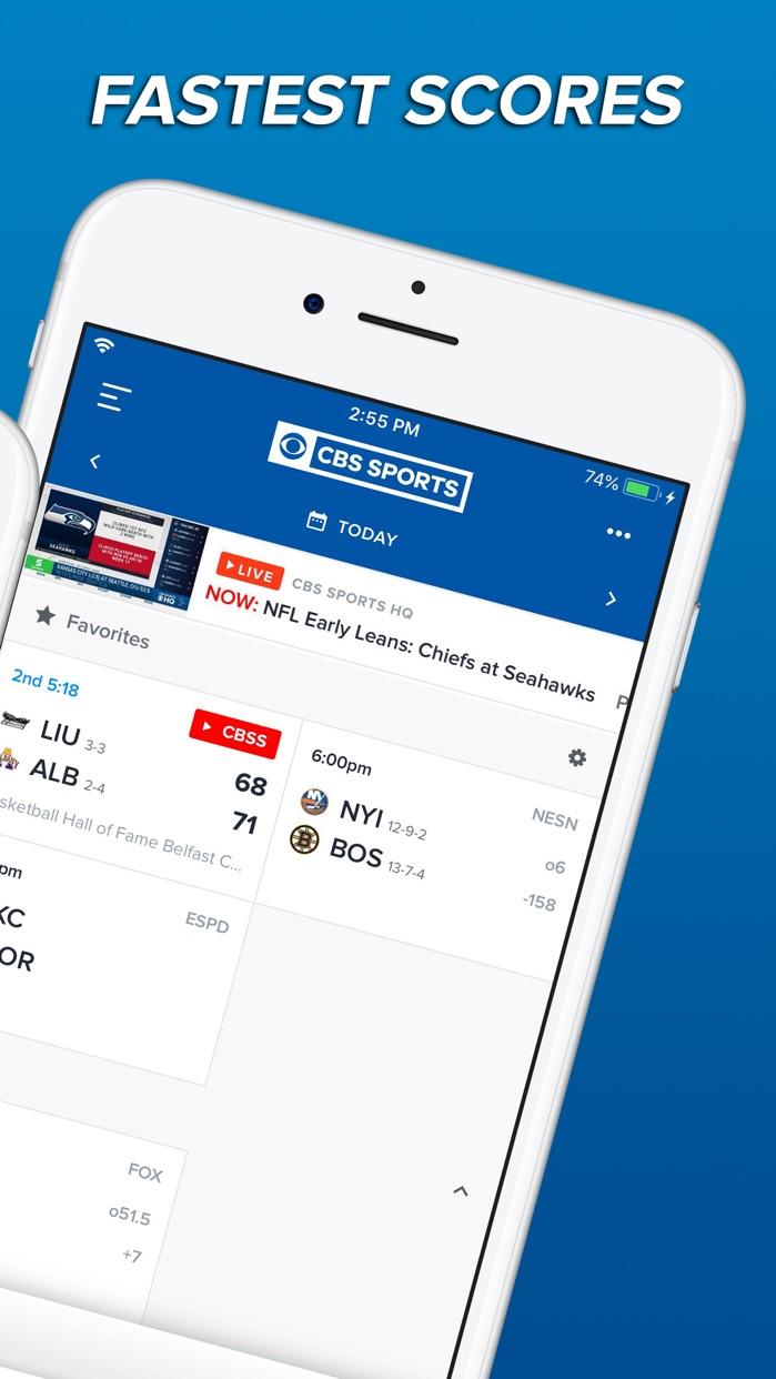 CBS Sports App Scores & News Screenshot