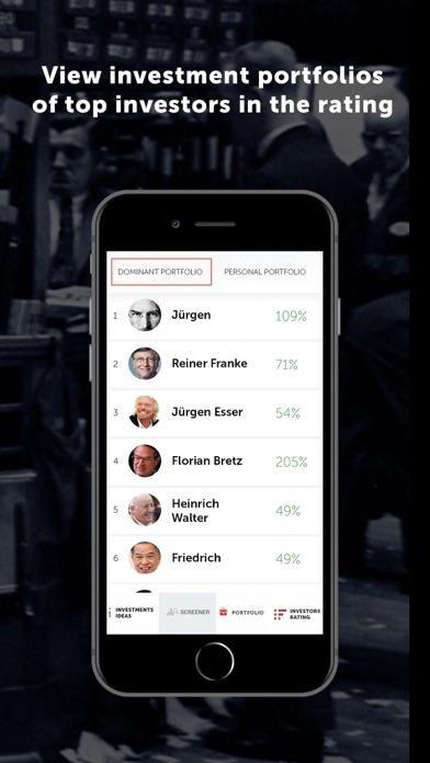 Dominant investorsScreenshot of 6