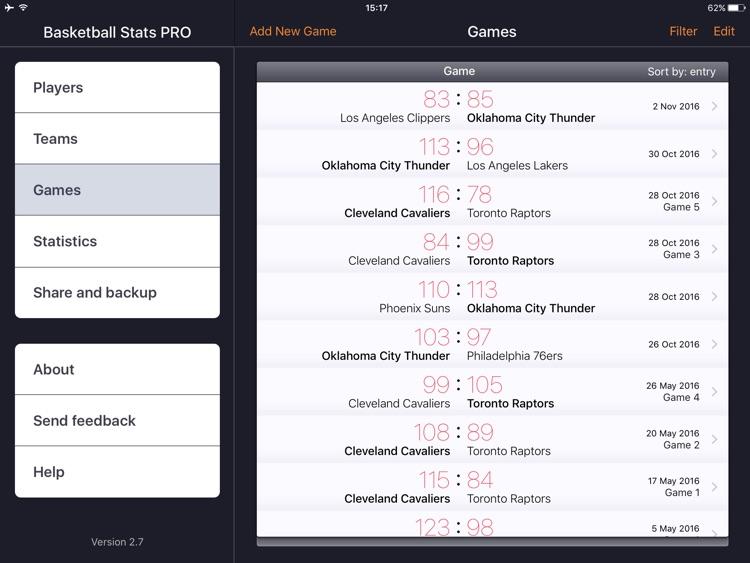 Basketball Stats PRO Lite screenshot-3