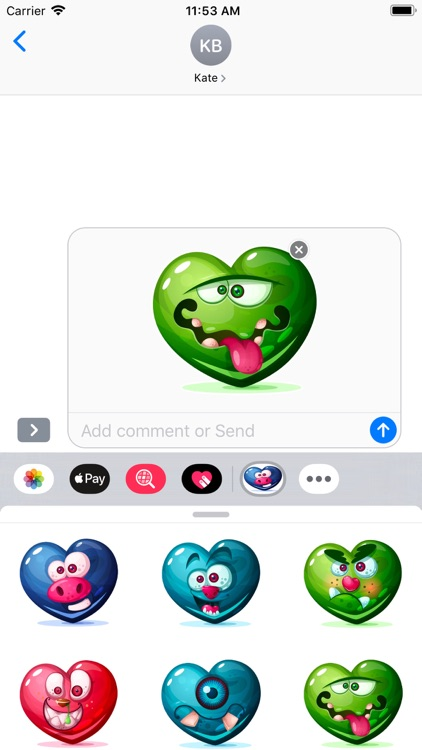 Dirty Hearts Stickers Pack screenshot-8