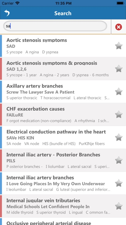 Cardiology Mnemonics screenshot-3