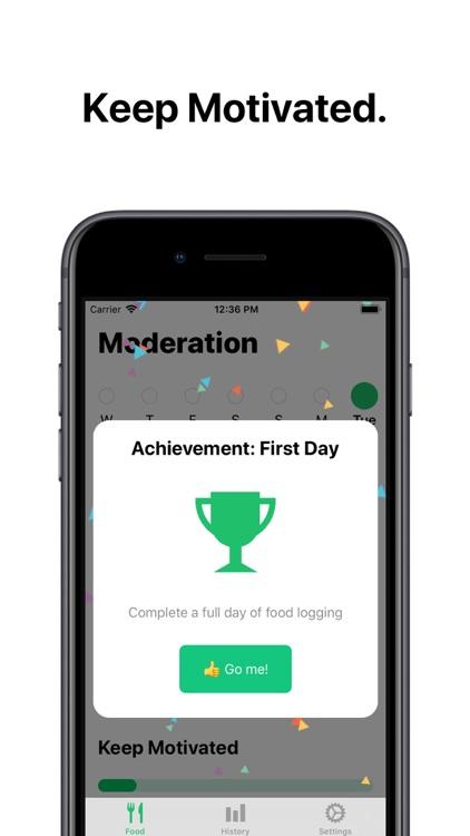 Moderation - Food Tracker screenshot-3