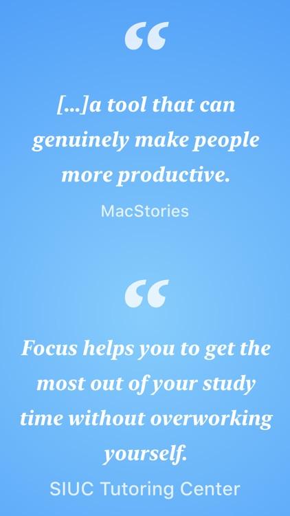Focus - Time Management screenshot-3
