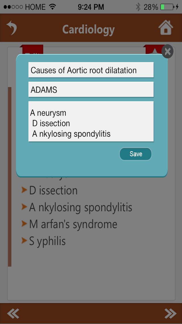 Clinic Pathology Mnemonics Screenshot