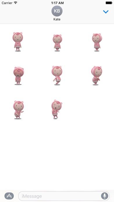 Animated Lovely Girl Sticker Screenshot